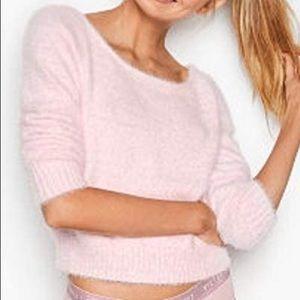 Victoria Secret Faux Fur Crewneck/Off The Shoulder